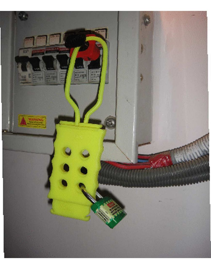 lockout tagout Di electric Hasp with 6 holes . RED, BLUE,GREEN ...