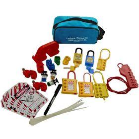 KRM LOTO  - OSHA LOCKOUT TAGOUT CIRCUIT BREAKER HANDY POUCH KIT-4055