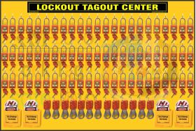KRM LOTO – Lockout Tagout station / center WITHOUT MATERIAL