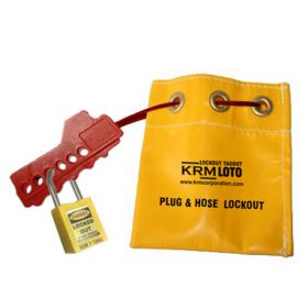 ADJUSTABLE FLEXIBLE LOCKOUT YELLOW BAG (WITHOUT PADLOCK)