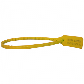 100pcs KRM LOTO – PLASTIC SECURITY SEAL -YELLOW