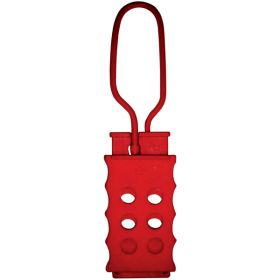 Di electric Hasp with 6 holes . RED,