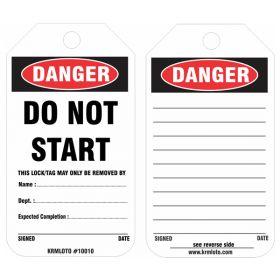 25pcs -  KRM LOTO DANGER - DO NOT START TAG