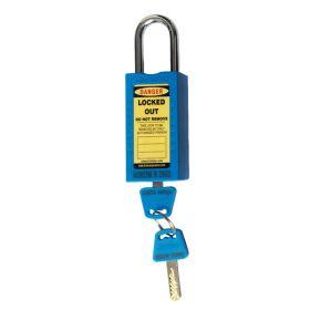 DOUBLE BODY – OSHA SAFETY LOCK TAG PADLOCK – METAL SHACKLE-BLUE