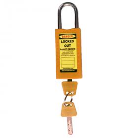 DOUBLE BODY – OSHA SAFETY LOCK TAG PADLOCK – METAL SHACKLE - ORANGE