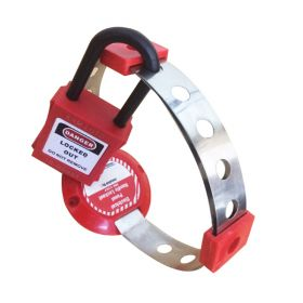 ELECTRICAL HANDLE PANEL LOCKOUT RED WITH PADLOCK