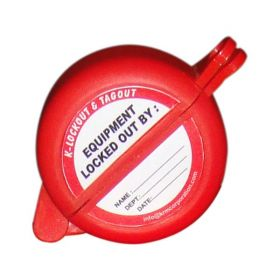 """KRM LOTO Gate Valve Lockout with one hole - 25 to 63.5 mm ( 1"""" - 2½"""" inch)"""