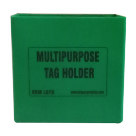 KRM LOTO MULTIPURPOSE TAG HOLDER - Green (Without Material)