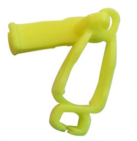 LOCK TAG CLIP LOCKOUT TAGOUT HOLDER - YELLOW