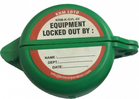 "KRM LOTO Gate Valve Lockout with one hole - 25 to 63.5 mm ( 1"" - 2½"" inch) - GREEN"