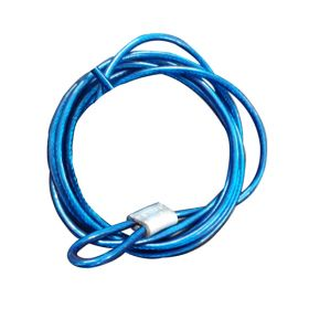 Insulated Metal Cable in SS Finish 4mm Blue (Single Loop, 2 Meters)