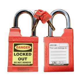 KRM LOTO - WEATHER/ WATER  PROOF OSHA SAFETY LOCK TAG PADLOCK – 38MM METAL SHACKLE HEIGHT