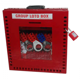 KRM LOTO –48H1P- PORTABLE/ wall mounted  GROUP LOTO  BOX ( without material )