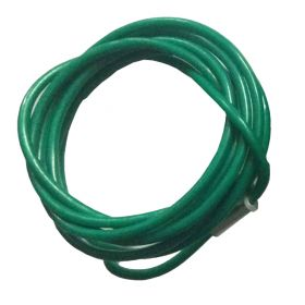 Insulated Metal Cable in SS Finish 4mm Green (Single Loop, 2 Meters)