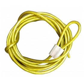 Insulated Metal Cable in SS Finish 4mm Yellow (Single Loop, 2 Meters)