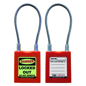 ABS Padlock With Insulated Steel Cable