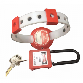 DI ELECTRIC HANDLE PANEL LOCKOUT RED WITH OSHA PADLOCK