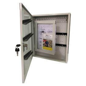 KRM LOTO DUAL LAYER LOCKOUT KEY STATION-WITH DISPLAY MESSAGE LAYER  OPAQUE FASCIA-18153
