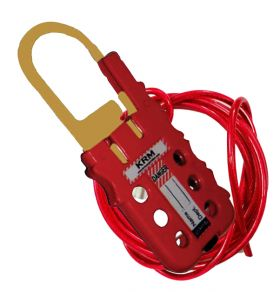 De Electric ABS Multipurpose Cable lockout Device Red/Yellow (With Cable)