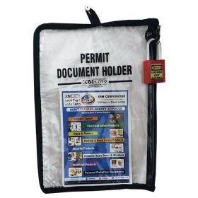 LOCKOUT PERMIT DOCUMENT HOLDER  WITHOUT MATERIAL-KRM-K-FPTH-BT