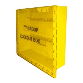 Wall Mounted Group Lockout Box 27H Yellow