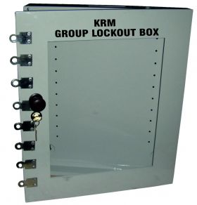 Group Lockout Box With 8 Slots