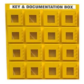 KRM LOTO - 16 BOX WITH 4 LOCKING HOOK LOCKOUT KEY & DOCUMENTATION BOX