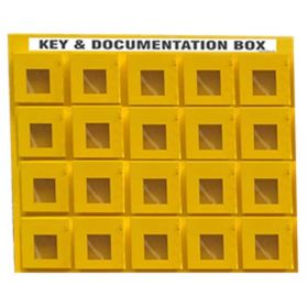 KRM LOTO - 20 BOX WITH 1 LOCKING HOOK LOCKOUT KEY & DOCUMENTATION BOX