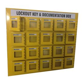 KRM LOTO - 20 BOX WITH 4 LOCKING HOOK LOCKOUT KEY & DOCUMENTATION BOX
