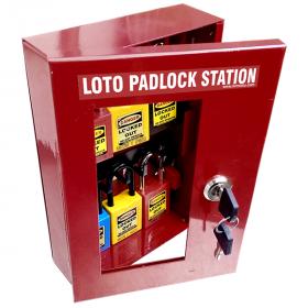 KRM LOTO – LOCKABLE LOCKOUT TAGOUT PADLOCK STATION-2251655
