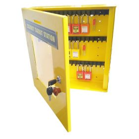 KRM LOTO – LOCKABLE LOCKOUT TAGOUT PADLOCK STATION-37590 (WITHOUT MATERIAL)