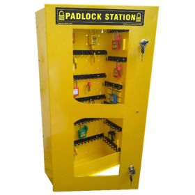 KRM LOTO – LOCKABLE LOCKOUT TAGOUT PADLOCK STATION-CLEAR FASCIA -30156 (WITHOUT MATERIAL))