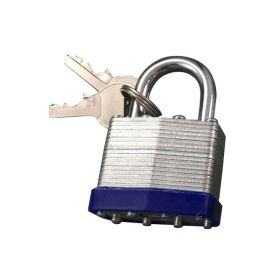 Laminated Padlock with Cap short shakle