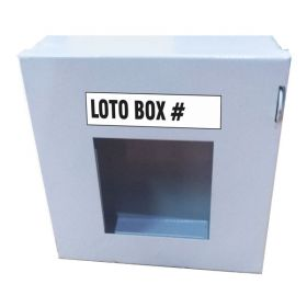 KRM LOTO – LOCKOUT PADLOCK STATION- CLEAR FASCIA- GREY-15155-1