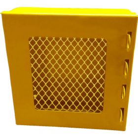 KRM LOTO – LOCKOUT PADLOCK STATION-MESH FASCIA-YELLOW-15155-4