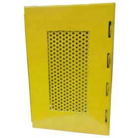 KRM LOTO – LOCKOUT PADLOCK STATION-MESH FASCIA-YELLOW-225155-4