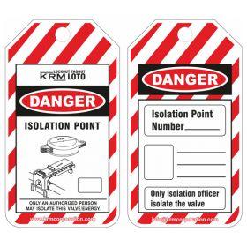25pcs KRM LOTO DANGER - ISOLATION POINT TAG