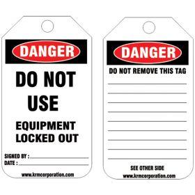 25pcs -KRM LOTO DANGER - DO NOT USE TAG