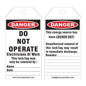25pcs - KRM LOTO DANGER - ELECTRICIANS AT WORK