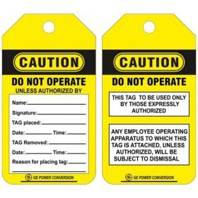 25pcs - CAUTION - DO NOT OPERATE TAG (CUSTOMISED TAG)