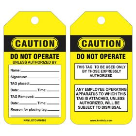 25pcs CAUTION - DO NOT OPERATE TAG