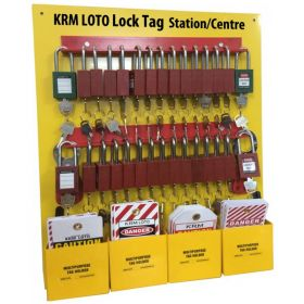 KRM LOTO Lock Tag Center/Station with material