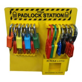 KRM LOTO - PADLOCK STATION WITHOUT MATERIAL