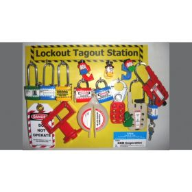 KRM LOTO - LOCKOUT TAGOUT STATION WITHOUT MATERIAL