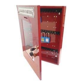 KRM LOTO – LOCKOUT TAGOUT PADLOCK STATION-clear fascia-18152 -RED (WITHOUT MATERIAL)