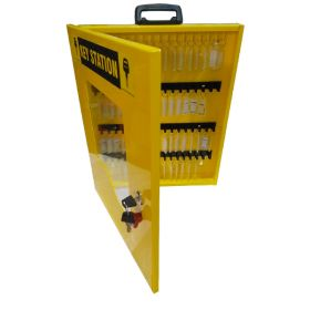 KRM LOTO – LOCKOUT KEY STATION-CLEAR FASCIA-18152 YELLOW WITHOUT MATERIAL
