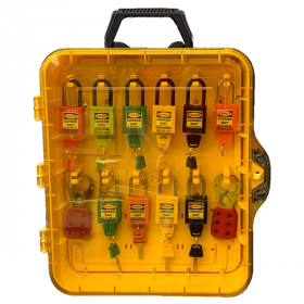 KRM LOTO - MOLDED LOCKOUT TAGOUT STATION  (WALL  MOUNTED AS WELL AS CARRYABLE ) WITH MATERIAL