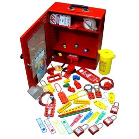 OSHA ELECTRICAL LOCKOUT TAGOUT STATION KIT - RED (WITH OSHA-LOCK)