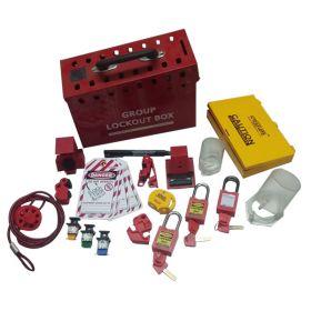 KRM LOTO -  OSHA GROUP PORTABLE LOCKOUT BOX KIT-7012