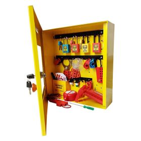 KRM LOTO-OSHA LOCKOUT TAGOUT ELECTRICAL MAINTENANCE STATION KIT - 8052